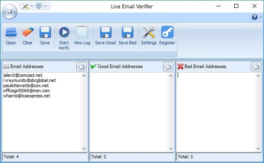 Email verifier - email addresses verification